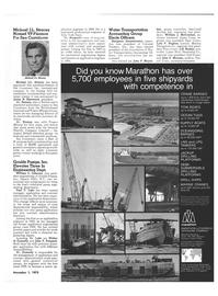 Maritime Reporter Magazine, page 19,  Nov 1973 east coast