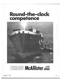 Maritime Reporter Magazine, page 1,  Nov 1973 McAllister Brothers Inc.