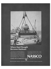 Maritime Reporter Magazine, page 43,  Nov 1973 Hard Thought Becomes Hardware