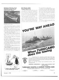 Maritime Reporter Magazine, page 45,  Nov 1973 New York Harbor