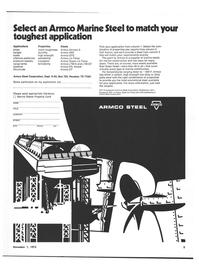 Maritime Reporter Magazine, page 3,  Nov 1973 steel