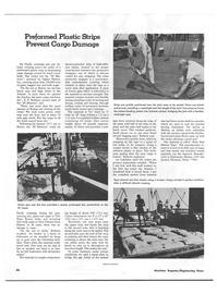 Maritime Reporter Magazine, page 50,  Nov 1973 Plastic Strips Prevent Cargo Damage Green seas