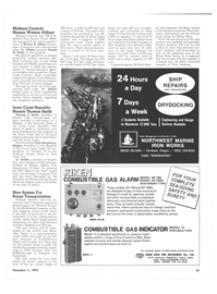 Maritime Reporter Magazine, page 55,  Nov 1973 Northern England