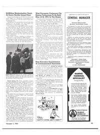 Maritime Reporter Magazine, page 59,  Nov 1973 European Marine Technology