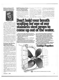 Maritime Reporter Magazine, page 5,  Nov 1973 Society of Naval Archi