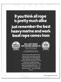 Maritime Reporter Magazine, page 6,  Nov 1973 WALL ROPE WORKS NEW BEDFORD CORDAGE CO.