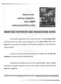 Maritime Reporter Magazine, page 14,  Dec 15, 1973