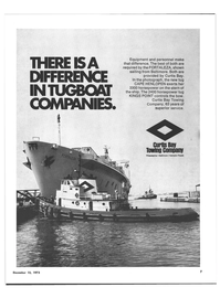 Maritime Reporter Magazine, page 5,  Dec 15, 1973 Curtis Bay Towing