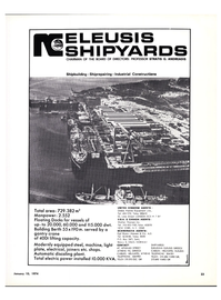 Maritime Reporter Magazine, page 21,  Jan 15, 1974 equipped steel