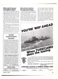 Maritime Reporter Magazine, page 39,  Jan 15, 1974 Falcon