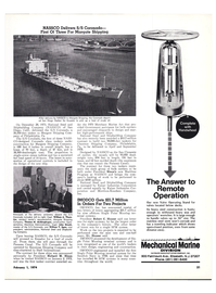 Maritime Reporter Magazine, page 18,  Feb 1974
