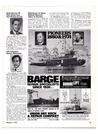 Maritime Reporter Magazine, page 22,  Feb 1974 New York