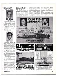 Maritime Reporter Magazine, page 22,  Feb 1974