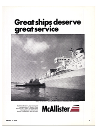 Maritime Reporter Magazine, page 1,  Feb 1974