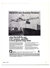 Maritime Reporter Magazine, page 3,  Feb 1974 container-handling equipment