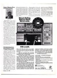 Maritime Reporter Magazine, page 3rd Cover,  Feb 15, 1974