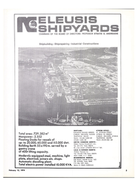 Maritime Reporter Magazine, page 3,  Feb 15, 1974 equipped steel