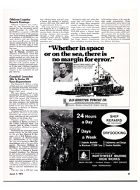 Maritime Reporter Magazine, page 41,  Mar 1974