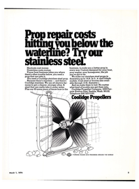 Maritime Reporter Magazine, page 3,  Mar 1974 stainless steel prop