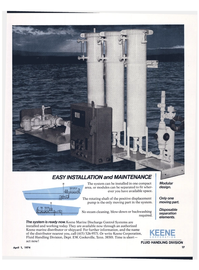 Maritime Reporter Magazine, page 15,  Apr 1974 Keene Marine Discharge Control Systems