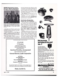Maritime Reporter Magazine, page 21,  Apr 1974 Connecticut