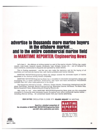 Maritime Reporter Magazine, page 22,  Apr 1974 marine advertising