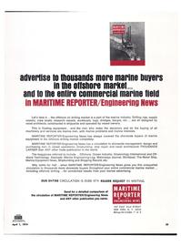 Maritime Reporter Magazine, page 22,  Apr 1974