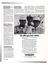 Maritime Reporter Magazine, page 24,  Apr 1974 Bill Dealing