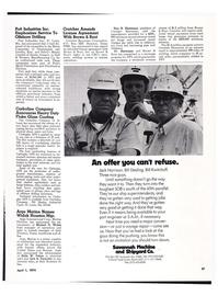 Maritime Reporter Magazine, page 24,  Apr 1974