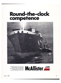 Maritime Reporter Magazine, page 1,  Apr 1974 McAllister Brothers Inc.