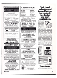 Maritime Reporter Magazine, page 32,  Apr 1974