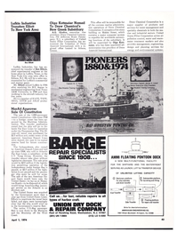 Maritime Reporter Magazine, page 40,  Apr 1974 Virginia