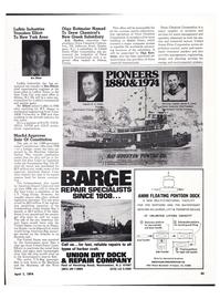 Maritime Reporter Magazine, page 40,  Apr 1974