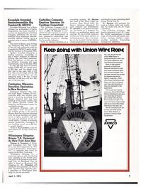 Maritime Reporter Magazine, page 7,  Apr 1974