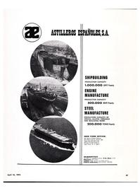 Maritime Reporter Magazine, page 46,  Apr 15, 1974