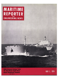 Maritime Reporter Magazine Cover May 1974 -