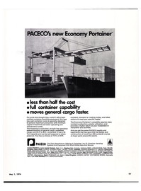 Maritime Reporter Magazine, page 17,  May 1974 container-handling equipment