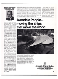 Maritime Reporter Magazine, page 27,  May 1974