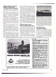 Maritime Reporter Magazine, page 33,  May 1974