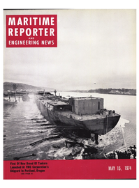 Maritime Reporter Magazine Cover May 15, 1974 -