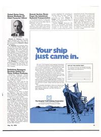 Maritime Reporter Magazine, page 12,  May 15, 1974 Bob Romano