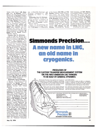 Maritime Reporter Magazine, page 18,  May 15, 1974 Simmonds Pre