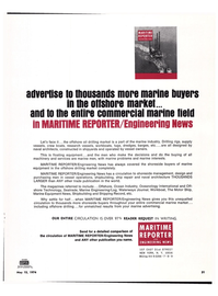 Maritime Reporter Magazine, page 28,  May 15, 1974