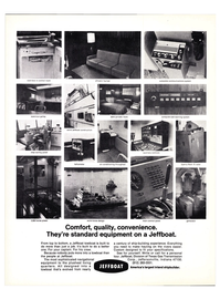 Maritime Reporter Magazine, page 3rd Cover,  May 15, 1974 lounge complete communications system spacious galley step-saving panel