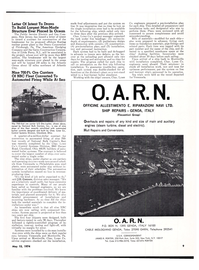 Maritime Reporter Magazine, page 7,  May 15, 1974