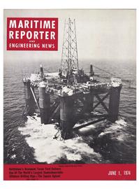 Maritime Reporter Magazine Cover Jun 1974 -