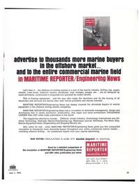 Maritime Reporter Magazine, page 28,  Jun 1974
