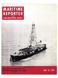 Maritime Reporter Magazine Cover Jul 15, 1974 -