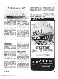 Maritime Reporter Magazine, page 47,  Jul 15, 1974