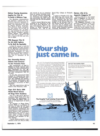 Maritime Reporter Magazine, page 37,  Sep 1974